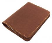Refillable Leather Pocket Notebook - Mini Composition Cover - Fits Standard 11cm x 8.3cm Mini Composition Book