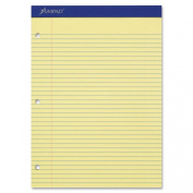 Ampad Double Sheet Pad, Canary, Letter, College Rule, 100-Sheets, 1-Each