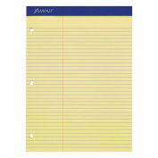 Ampad Evidence Dual Ruled Pad, Law Ruling, Size 22cm x 30cm , Canary Paper, 100 Sheets Per Pad