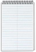 TOPS Docket Gold Classified Spiral Steno Book, Gregg Rule, 15cm x 23cm , White, 100 Sheets per Pad