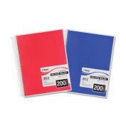 Mead® Spiral® 5 Subject Notebook - College Ruled, 8.5 x 11, Asst. Colours, 200 Sheets per Pad (06780) Pack Of 2