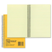 National Brand Brown Board Cover Notebook, Narrow, 1-Subject, Green Paper, 20cm x 13cm , 80 Sheets