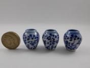 3pc Miniatures Antique Vase Vintage Furniture Chinese Dollhouse Jar Pot Lot Doll