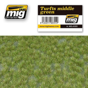 Ammo of Mig Jimenez TURFS MIDDLE GREEN Realistic Ground With Vegetation #8355