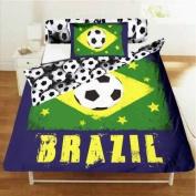 Brazil Single Size Comforter Cover & Pillowcase Bed Linen Set