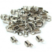 40 Cord Ends Leather Bead Necklace Connector Clasps
