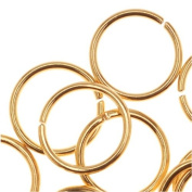 22K Gold Plated Open 8mm Jump Rings 20 Gauge