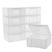 10 Storage Square Clear Containers for Small Items Organiser 6.4cm