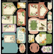 Graphic 45 Time to Flourish Tags and Pockets for Scrapbooking