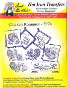 Chicken Romance Aunt Martha's Hot Iron Embroidery Transfer