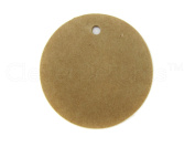 200 CleverDelights Circle Kraft Gift Tags / Hang Tags - 3.8cm Diameter - Brown Kraft Hang Tags - For Gifts, Crafts, Party Favours, Weddings, Price Tags - Thick Heavy Duty - 3.8cm