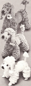 Vintage Crochet PATTERN to make - Toy Dog Puppy French Poodles. NOT a finished item, this is a pattern and/or instructions to make the item only.