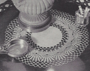 Vintage Crochet PATTERN to make - Heirloom Lace Crochet Doily Centrepiece Mat. NOT a finished item. This is a pattern and/or instructions to make the item only.