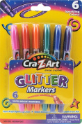 Cra-Z-Art Glitter Markers, 6 Count