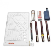rOtring Isograph Technical Drawing Pens, Set, 3-Pen College Set