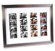 CreativePF- Stainless Steel Wedding Photo Booth Frame - Holds 4- 2x6 with Mat to Display, Cherish and Preserve your Wedding Memories