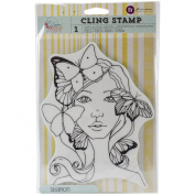 Prima Marketing Bloom Cling Rubber Stamps, 20cm by 15cm , Sharon