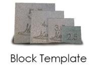 Martelli Block Template Small 6.4cm - 14cm BLK-04-S-T