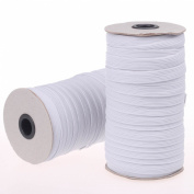 Cotowin 1.3cm White Braided Polyester Elastic Roll