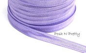 1cm Lavender Fold Over SATIN Elastic! 5 yards!