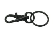 Chuzhao Wu Metal Black Lobster Clasps Swivel Trigger Clips Snap Hooks With 2cm Key Ring