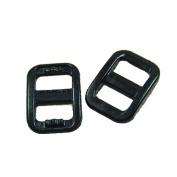 """50pcs 3/8"""" (10.5mm) Webbing Black Plastic Slider Tri-Glide Adjust Buckles for Cat Dog Collar Backpack Straps FLC096-B"""
