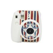 Darkhorse Strip & Star Series Decor Sticker For Fujifilm Instax Mini 8 Camera -- White