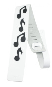 Perris Leathers BMN-1254 8.9cm Leather Adjustable Guitar Strap with Music Notes