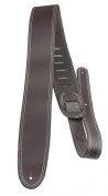 Perris Leathers BDS-174 6.4cm Double Stitched Leather Adjustable Guitar Strap