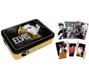 Elvis Presley Playing Cards 2 Deck Tin Set Elvis Gold