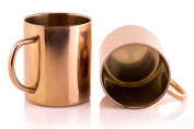 TeiKis [Set of 2] 470ml Moscow Mule Copper Mugs - Chills quickly and keeps the drinks frosty