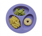 oogaa Silicone Baby and Toddler Divided Plate - Purple