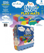 EnviUs Snug Plus Play Mat Rainbow 9 : Ultra Thick 9 Pieces (6 Colours) 30cm x 30cm x 1.4cm