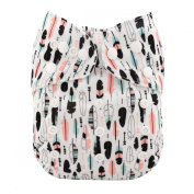 ALVABABY New Design Reuseable Washable Pocket Cloth Nappy Nappy + 2 Inserts H001