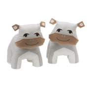 Lolli Living Zig Zag Zoo Bookend Friends, Hippo