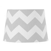 Lolli Living Lampshade, Grey Zig Zag