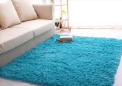 Newrara Super Soft 4.5 Cm Thick Modern Shag Area Rugs Living Room Carpet Bedroom Rug for Children's Play Rug Floor Rug Nursery Rug 1.2m By 1.5m