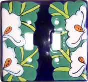 Lily Talavera Ceramic Double Switch Plate