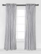 Bacati - Grey Pin Stripes Curtain Panel