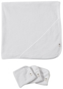 Burt's Bees Baby 2 Ply Towel + 3 Washcloth Set - Cloud