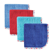 Hudson Baby Print Woven Washcloth for Boy, Net, 4 Count