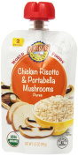 Earth's Best Organic Stage 2, Chicken Risotto & Portabella Mushrooms, 100ml Pouch