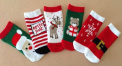 Baby Pure Cotton Thickened Terry Towel Socks 6 Pack for Autumn,winter 0-18 Months