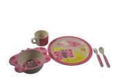 EcoBamboo Ware Kids Bamboo Dinnerware Set, Butterfly