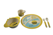 EcoBamboo Ware Kids Bamboo Dinnerware Set, Bumble Bee
