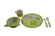 EcoBamboo Ware Kids Bamboo Dinnerware Set, Octopus