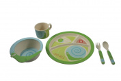 EcoBamboo Ware Kids Bamboo Dinnerware Set, Snail