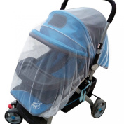 Outtop Universal 150cm /Elastic 180cm Diameter Baby Stroller Cradle Insect Netting Safe Mesh,White