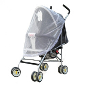Bestnow Universal White Thin Lace Safe Baby Soft Mesh Carrier Netting Insect Net for Baby Stroller Cradle Bed