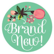 Lucy Darling Shop Newborn Baby Sticker - Baby Girl - Floral Hand Lettering